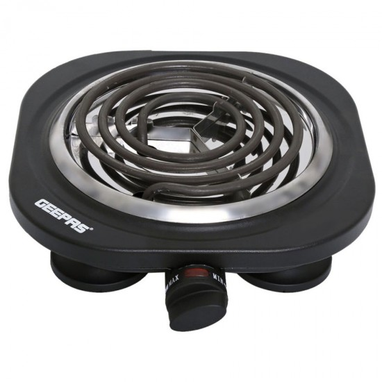 Geepas Single Hot Plate Overheat Prot 1500W - GHP7584