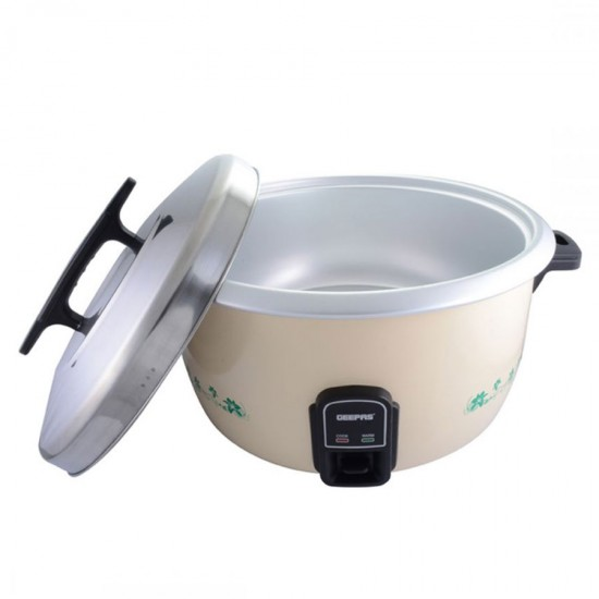 Geepas Electric Rice Cooker, Cook And Warm, Stainless Steel Lid, 10 L - GRC4323