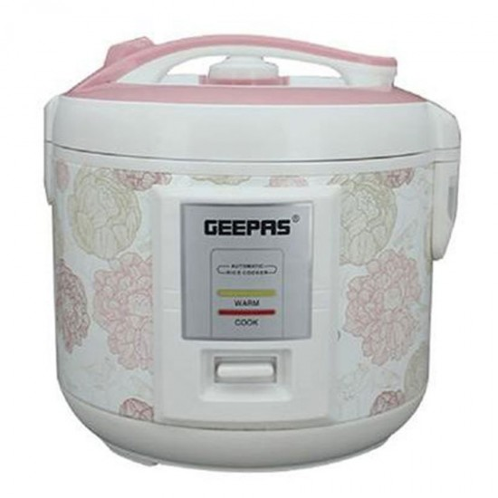 Geepas Electric Rice Cooker, Cook, Steam, Warm, 1.5L - GRC4334