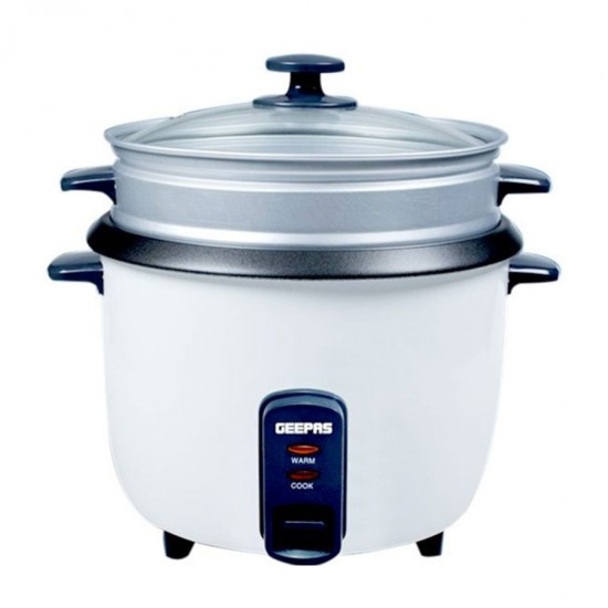 Geepas Electric Rice Cooker, Cook, Warm, Steam, 0.6L - GRC4324