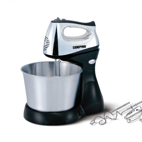 Geepas Hand Mixer 5 Speed Turbo 2.5LS Bowl 200W - GHM5461