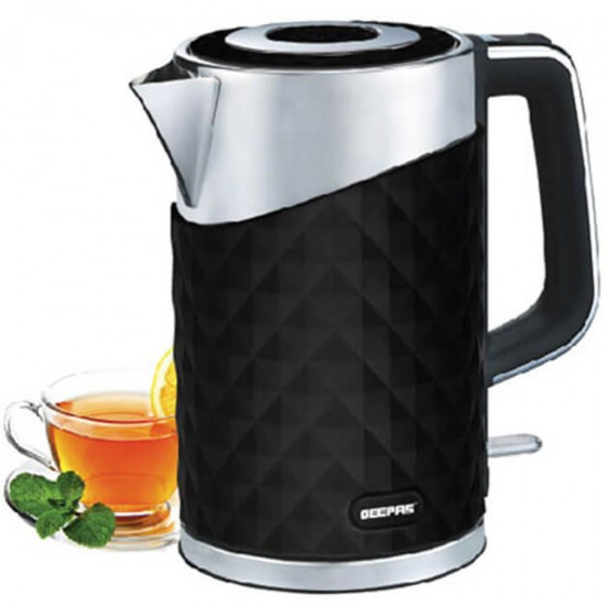 Geepas Stainless Steel Double Layer Kettle 1.7 Ltr - GK6141