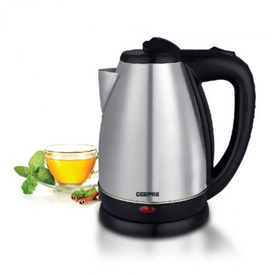 Geepas Stainless Steel Electric Kettle 1.8 Ltr Boil Dry Port - GK5454