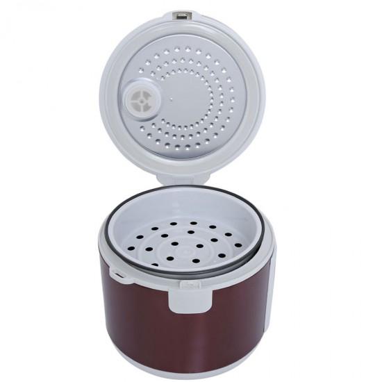 Geepas Stainless Rice Cooker, 1.5L, Nonstick Innerpot - GRC4328