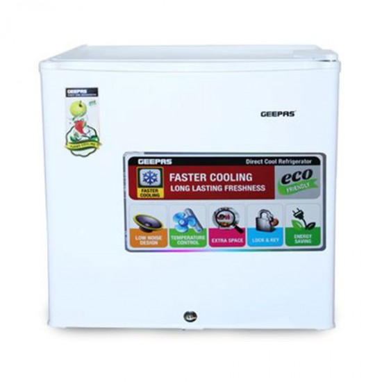 Geepas 60L Mini Refrigerator, Faster Cooling - GRF654WPE