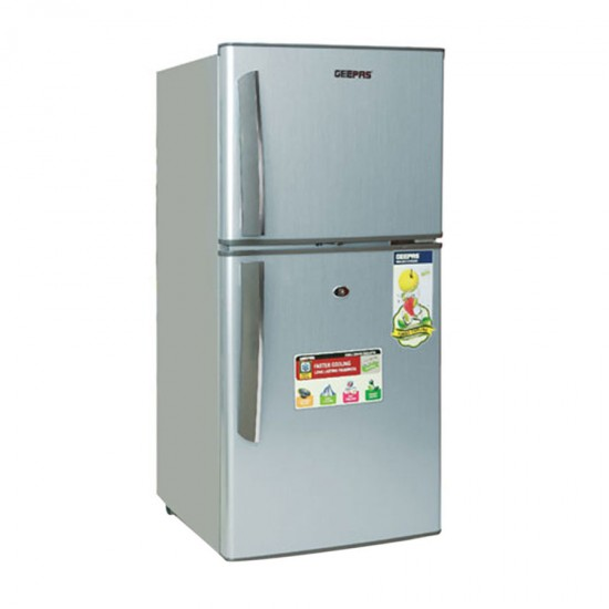 Geepas Defrost Double Door Refrigerator 140L - GRF1607SPE