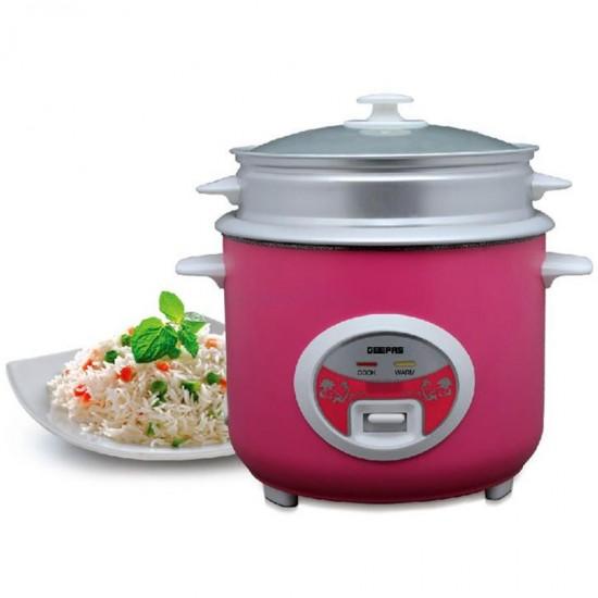 Geepas Deluxe Rice Cooker, 1.8L, Non-Stick Inner Pot - GRC4329