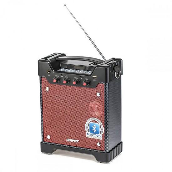 Geepas Rechargeable Portable Speaker Usb Fm Bt Rmt Mic - GMS8560