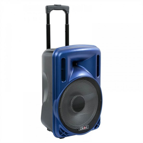 Clikon Rechargeable Trolley Speaker with Recording Function ,Bluetooth and Wireless MIC -CK814