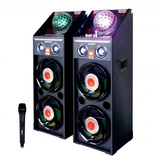 Geepas 2.0 Ch 10 Speaker Usb Mic Laser Bt - GMS8444