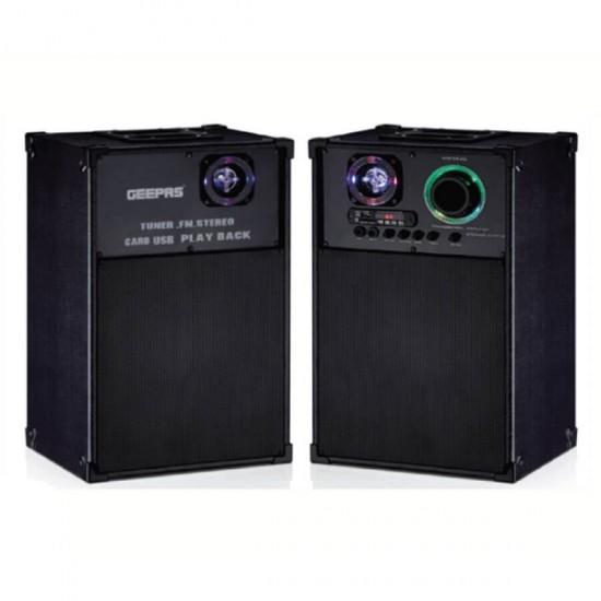 Geepas 2.0 Speaker Usb Fm Rmt Bt Mic - GMS8538