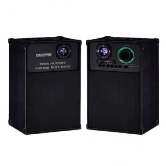 Geepas 2.0 Speaker Usb Fm Rmt Bt Mic - GMS8539