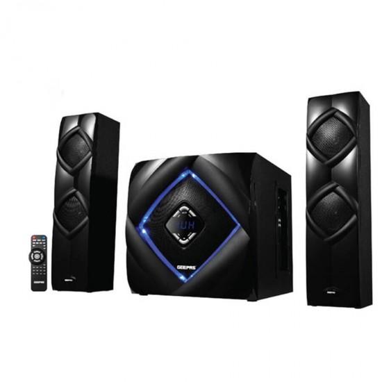 Geepas 2.1 Ch Multimedia Speaker System Bt - GMS8583