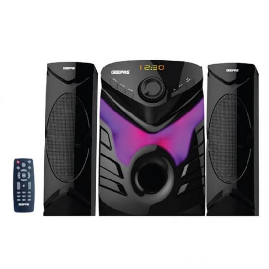 Geepas 2.1 Ch Multimedia Speaker System Bt Usb Fm - GMS8582