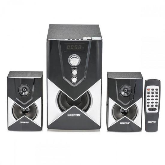 Geepas 2.1 Ch Multimedia Speaker Usb Fm Rmt Bt - GMS8515