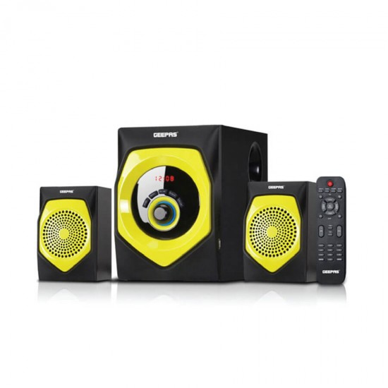 Geepas 2.1 Multi Media Speaker Usb Fm Bt - GMS8584