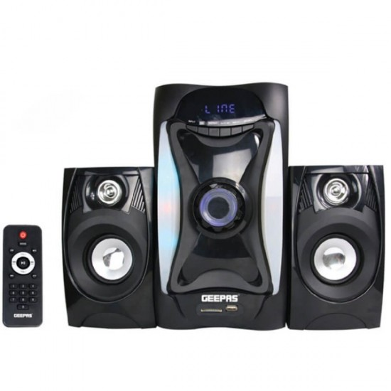 Geepas 2.1 Multimedia Speaker Usb Sd Fm Bt Rmt - GMS8597