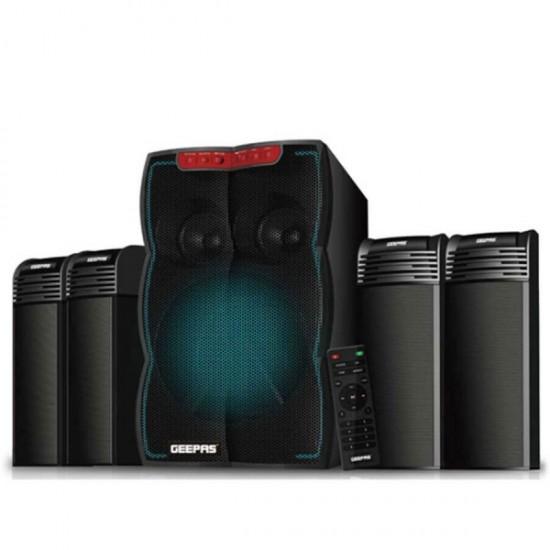 Geepas 4.1 Multimedia Speaker Usb Fm Rmt Bt Light - GMS105