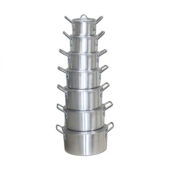 2 In 1 Bundle 14 Pcs Aluminum Cookware Set + 14 Pcs Food Storage - BND17-52