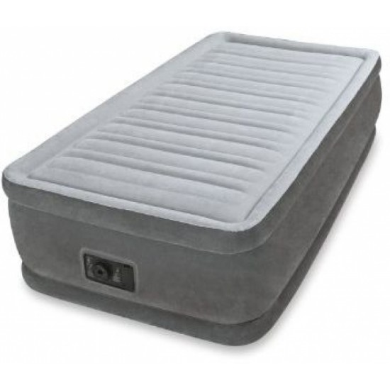 Intex Dura Beam Comfort Plush Elevated Air Bed Single 64412 With Built-in Electric Pump