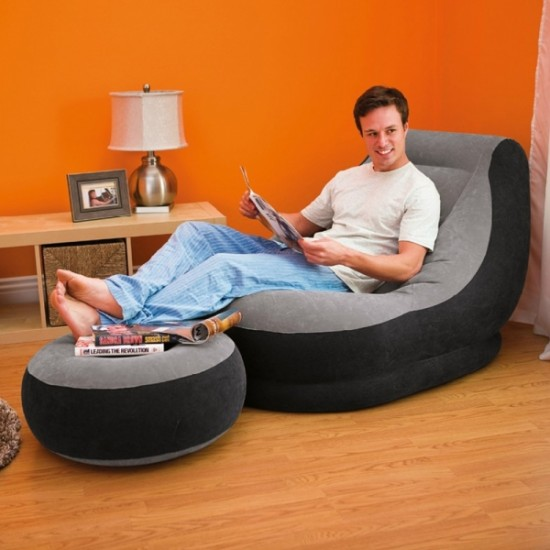 Intex Inflatable Ultra Lounge Chair with Ottoman 68564