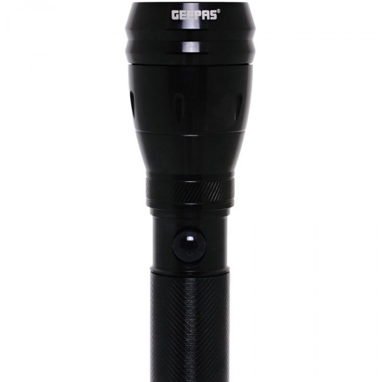 Geepas Rechargeable Water Proof Led Flashlight, 238MM  - GFL3897