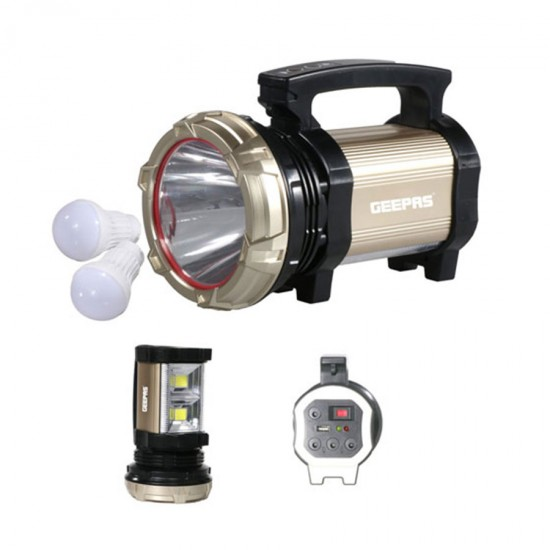 Geepas Rechargeable Led Search Light, Lantern, 10Hrs - GSL5709
