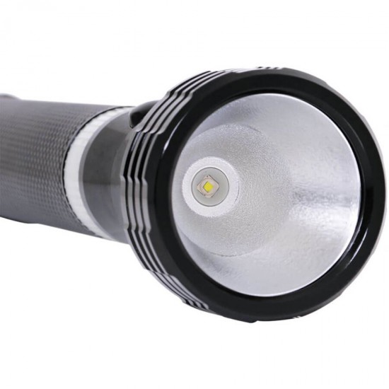 Geepas Rechargeable Led Flashlight Nightglow 242Mm - GFL4641