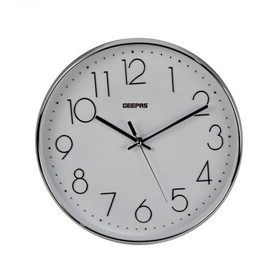 Geepas Wall Clock 3D Silver Dial - GWC26011