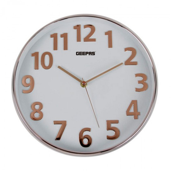 Geepas Wall Clock 3D Rose Gold - GWC26013