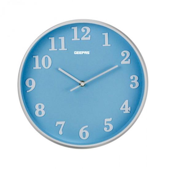 Geepas Wall Clock 3D Dial Sky Blue - GWC26014