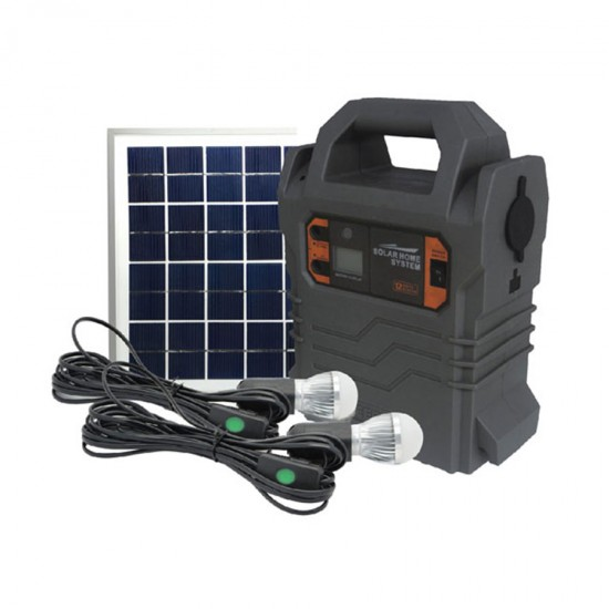 Geepas Rechargeable Home Solar System, 5002, Lum, 18V, 10W - GPS5902