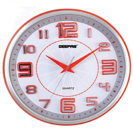 Geepas Wall Clock Taiwan Movement 3D hour number - GWC4813