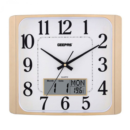 Geepas Wall Clock Taiwan Movement Display - GWC4801