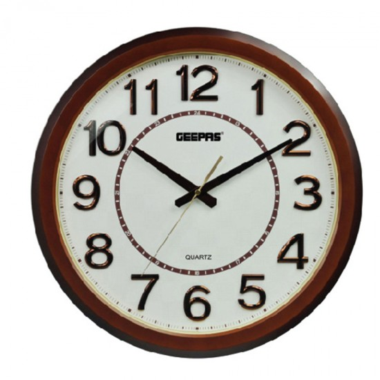 Geepas Wall Clock Taiwan Movement - GWC4803