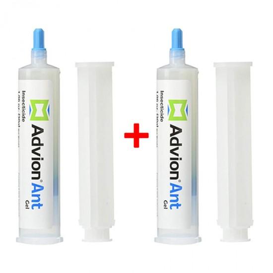 2 Pcs Advion Ant Gel Bait 2 Tube 30 G + 2 Plunger + 2 Tip