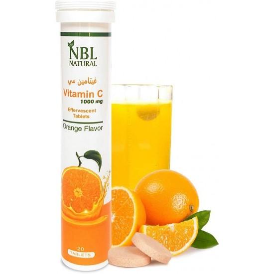 NBL Natural Vitamin C 1000 Mg Orange Flavor 20 Effervescent Tablets