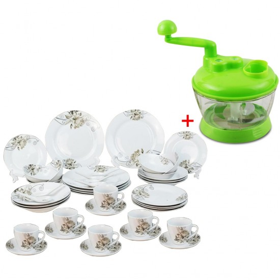 42 PCS Ceramic Dinner Set And Vegetable and Fruits Chopper-bnd-2031