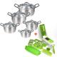 2 In 1 Bundle Offer 10 Pcs Aluminium Cooking Pots+12 Pcs Nicer Dicer BND17-17