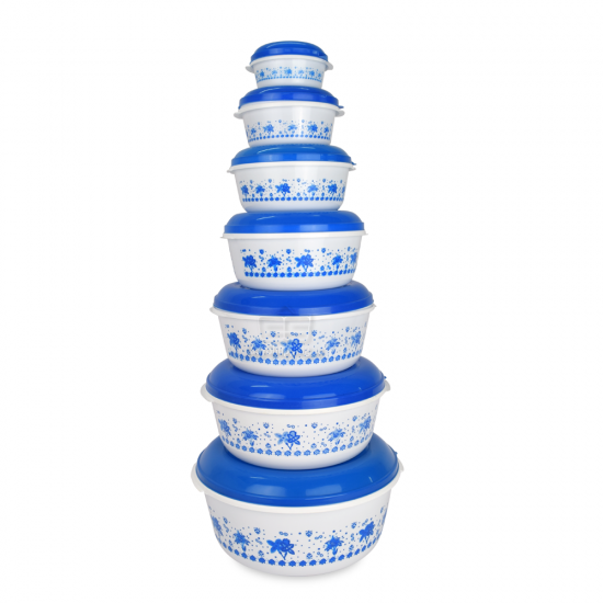 14 Pcs Blue Food Container